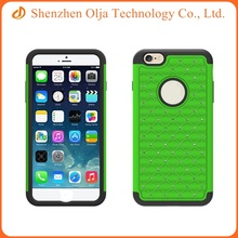 Mobile phone back cover PC+TPU style combo phone case for iPhone 6 plus