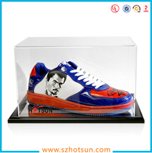 acrylic supplier clear basketball shoe box for wholesale