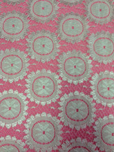 latest fashion fancy bright nylon spandex lace fabric