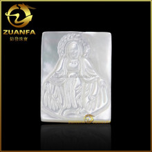 2015 new styles pearl for jewelry making machine engraved Blessed Virgin carved mother of pearl shell