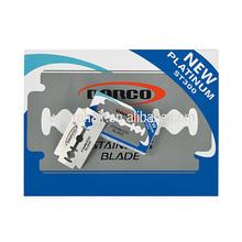 Profesional double edge razor blade hoja de acero inoxidable