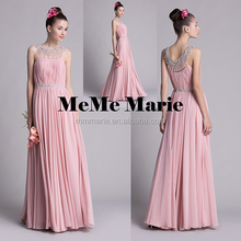 2015 sweetheart sleeveless Evening dress Elegant Heavy Beading sleeveless sheath Floor-length chiffon Prom Dress party dress