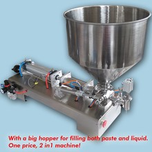 10ML-300ML High filling accuracy 316 stainless steel automatic single nozzle paste piston filling machine for oil