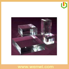 Mutil-size Clear Solid Acrylic Display Cube