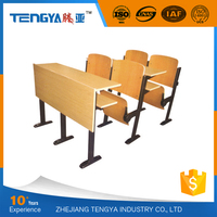 Tengya Classroom Desk Chairs for College Meeting Room Bend Wooden Lecture Theatre Chair