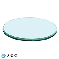Top quality tempered glass computer table
