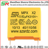 0.82uf 310vac x2 capacitor with excellent production engineering