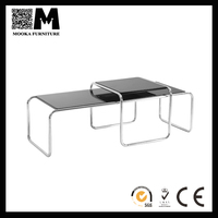 economical use good design coffee table furniture stainless steel material section table