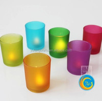 colored Glass Candle Holder /Glass Candle Jar