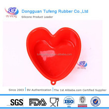 Hot sale quality red heart shaped silicone bakeware manufacturer