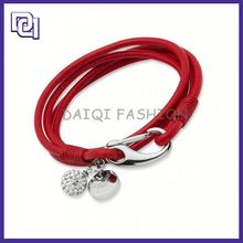 magnetic clasp with round leather cord bracelet ,leather and crystal wrap bracelets, leather wraped bracelet