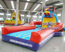 bungee basketball court inflatables / air bungee basketball game / inflatable bungee basketball