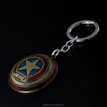Custom the Captain America metal keychain Movie Animation key chain souvenir keychain quality assurance