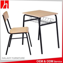 Suppliers China Fireproof Used Attached School Desk And Chair