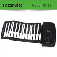 roll up piano keyboard music instrument of midi keyboard controler with speaker
