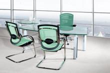2015 Hot Seller Chromed Steel Arc. Office Mesh Meeting Chair