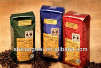 coffee bean packaging bag with valve
