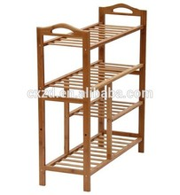 Factory price water proof 4 tires wooden shoe rack--KD product