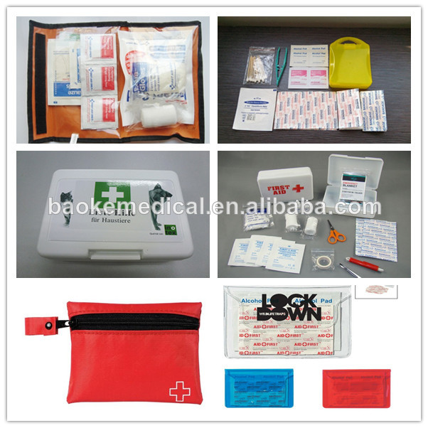 CE & ISO approved travel first aid kits bags