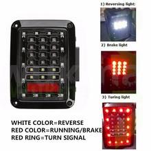 PAIR 07-15 US JEEP WRANGLER JK LED BRAKE TAIL LIGHTS REAR SIGNAL REVERSE LAMPS