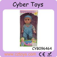 14 inch boy full silicone doll with IC voice and real eye