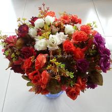 artificial flower camellia for wedding decoration