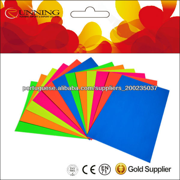 colored art paper sheet/ fluorescent color paperboard