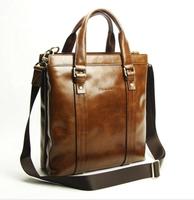 Top Grade 100% Genuine Leather factory direct Fashion Mens Handbag branded men handbags 2015