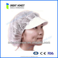 disposable nonwoven food cap disposable mesh hair net colourful for hotel food factory