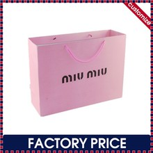 Factory price custom paper printed carrier bags with different handle types