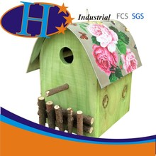 Colorful painting wooden bird house