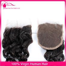 2015China supply fashionable brazilian virgin hair closure free shipping