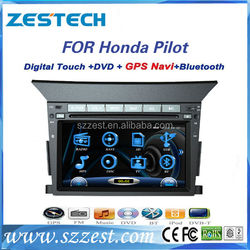 ZESTECH 2 din HD touch screen car dvd for honda pilot with gps navi bluetooth radio fm am usb all in one
