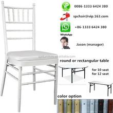 Foshan factory(near Guangzhou) low price silla wedding tiffany chair rental