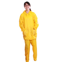 Fashion style high quality Practical yellow rain suit for adult 2014