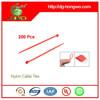 2.5mm Width RoHS, UL 94V-2 self locking nylon plastic zip tie 1000 Pcs/BAG
