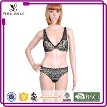 Magic Sexy Chest Transparent Net Smart Girls Bra And Panty Set