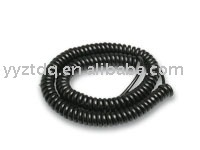 coiled cord coiled cable