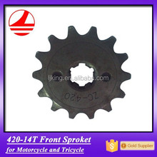 China Factory Wholesale Motor tricycle 420-14T front chain sprocket