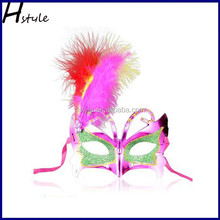 Party masquerade mask beauty princess Party half face leather feather mask of also Halloween masks SC110