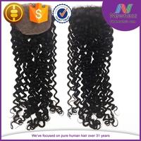 Free Parting Middle 3 Way Part Closure 4*4 stock human hair silk base closure wholesale