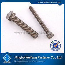 china high quality Stainles Steel Heavy Hex bolts ASTM A193 B8M/B8 m4 carriage bolt manufacturer&supplier&exporter