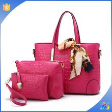 High-end European and American fashion handbags handbag 2015 new 3pcs bag set