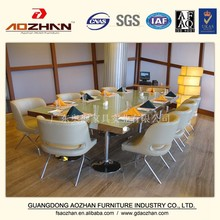 Most popular hotel furniture dining table with steel legs AZ-GGZZ-0157