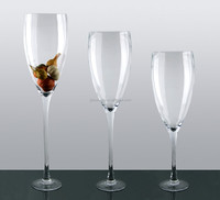 Wholesale clear reversible trumpet glass vase, different types glass vase