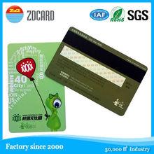 CR80 PVC Laser Card for business 1k bytes rfid card