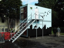 prefabricated 20ft shipping container houses for food cafeteria/restaurant/hotel /house /office