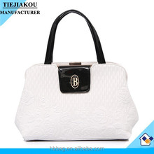 lady custom logo bag white women handbag