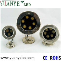 6w ip68 led underwater lights,rgb dc24v led lights for underwater fountain/pond/pool lighting use