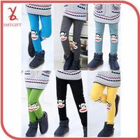 Free shipping MT23 Korean children girls winter embroidered monkey 6 colors leggings